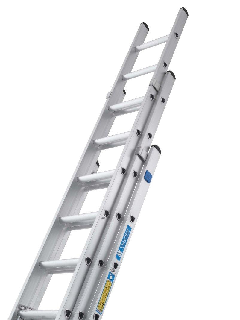 Zarges 3 Part Class 1 Industrial Extension Ladder 3 X 12