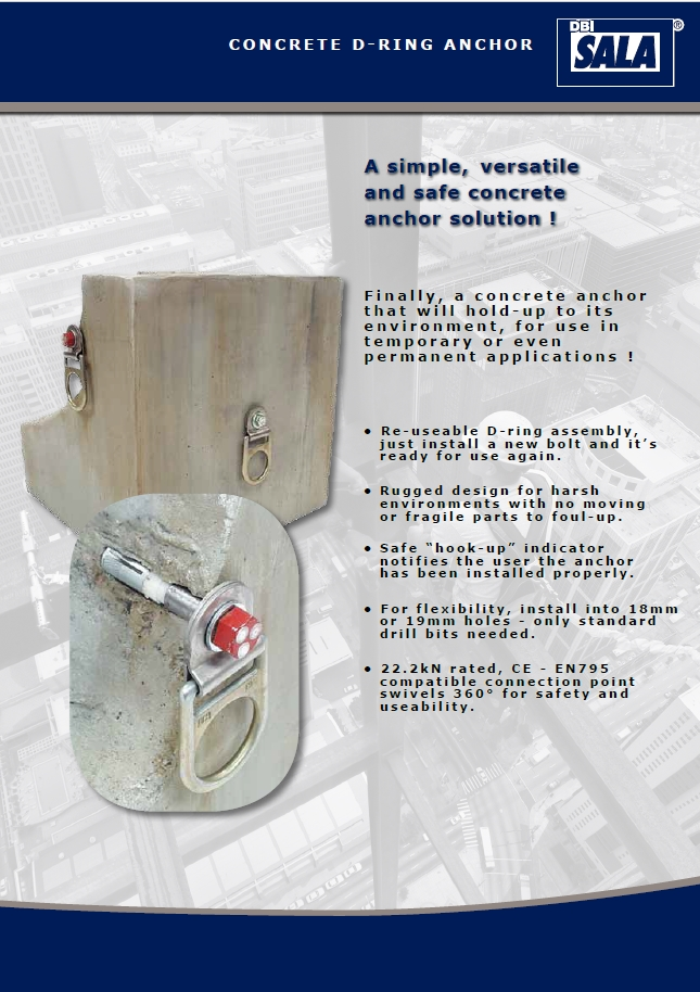 Dbi Sala Concrete D Ring Assembley Css Worksafe