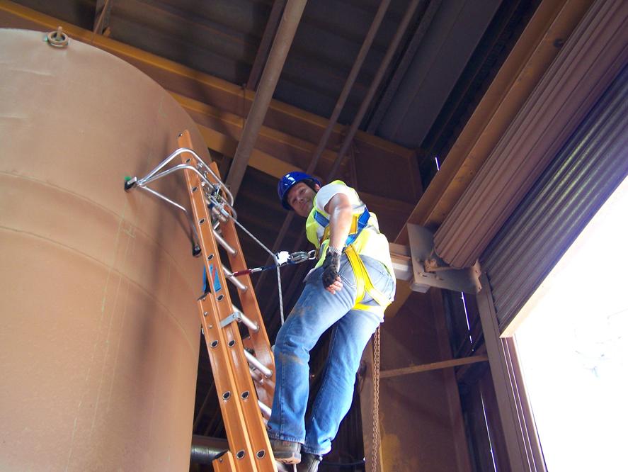 Ladder Restraint Amp Fall Arrest Safety System Css Worksafe